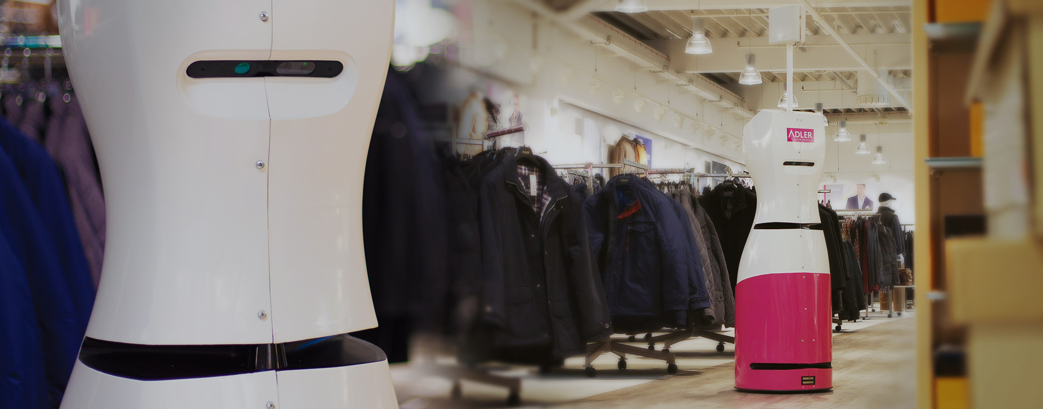 RFID robot Tory in a clothing store