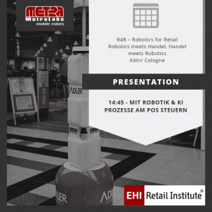 Image with TORY - an inventory robot and a note about a presentation at EHI conference