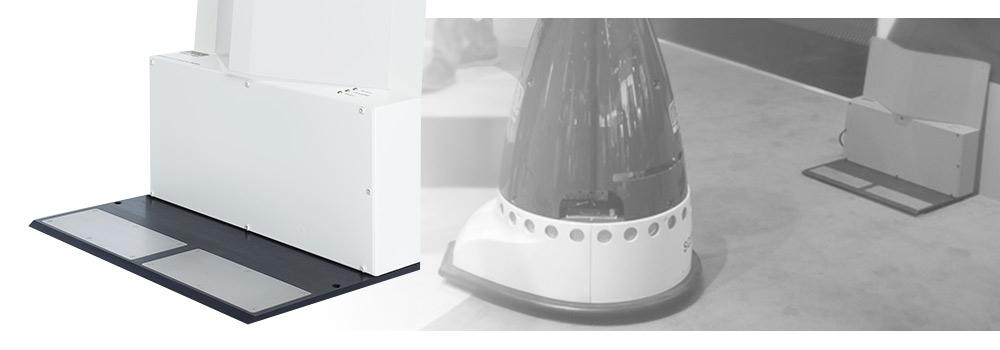 Weiße Roboter-Ladestation - Produktbild